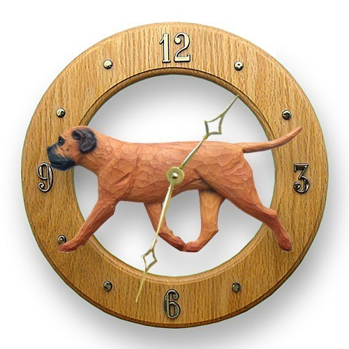 Bullmastiff dig oak wall clock furrypartners red bullmastiff dig oak wall clock light oak aloadofball Choice Image