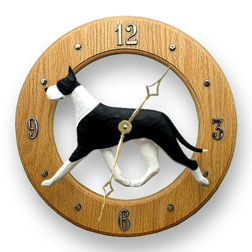 Great dane dig wall clock furrypartners mantle great dane dig oak wall clock light oak aloadofball Choice Image