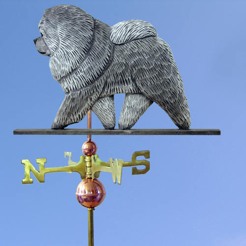 Chow Chow Wood Carved Weathervane - Furrypartners