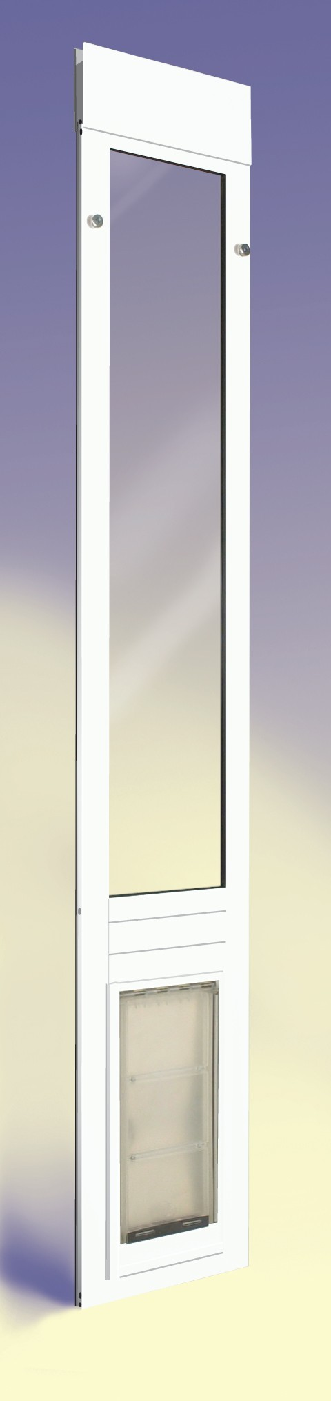 ... Quick Panel III Endura Flap Dog Door Sliding Glass Doors White Finish  ...