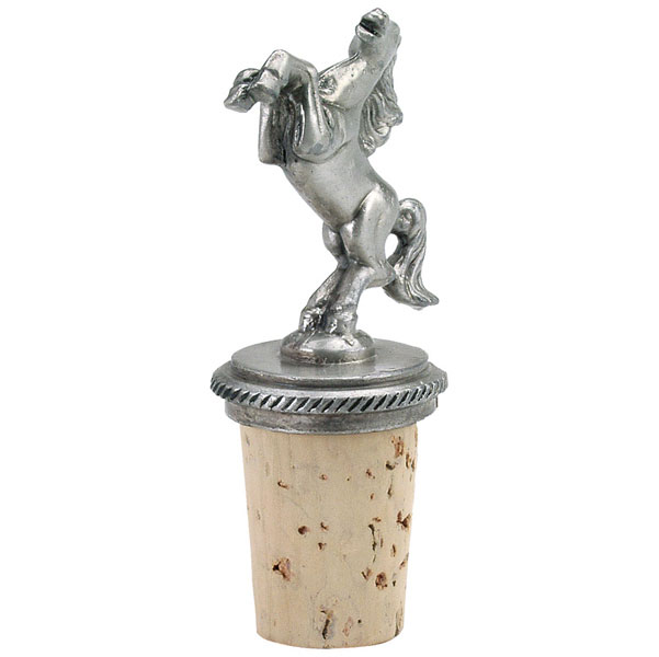 Horse Pewter Bottle Stopper Furrypartners