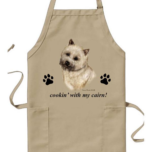 Cairn Terrier Wheat Cookin Apron By Tamara Burnett Furrypartners