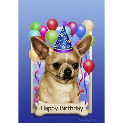 chihuahua birthday Chihuahua Tan Happy Birthday Flag by Tamara Burnett   Furrypartners chihuahua birthday