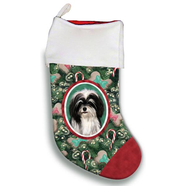 Havanese Black & White Christmas Stocking - Furrypartners