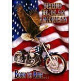 Eagle Born to Ride Decorative Flag