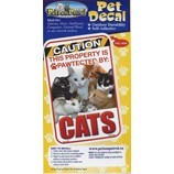 Caution Cats Pet Decal
