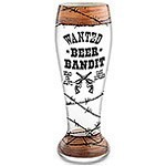 Beer Bandit Hand-Decorated Pilsner Glass
