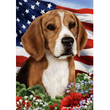 Beagle Patriotic Flag