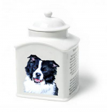 Border Collie Memorial Urn