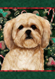 Lhasa Apso Cream Holiday Treats Flag