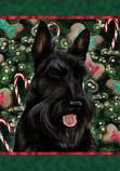 Scottish Terrier Black Holiday Treats Flag