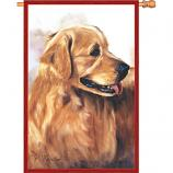 Golden Retreiver House Flag