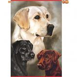 Labrador Retrievers House Flag